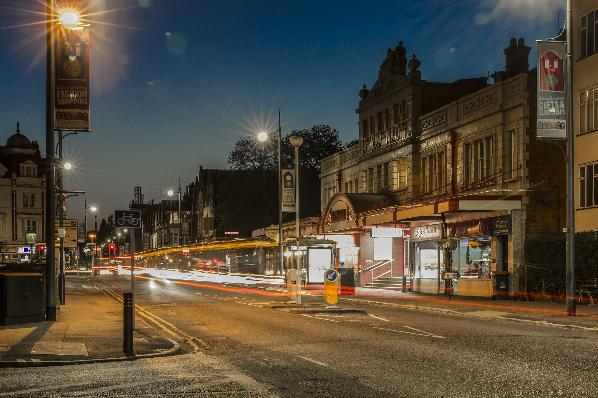 Westbourne Life: Grand Bingo Hall and looking west towards Westbourne.