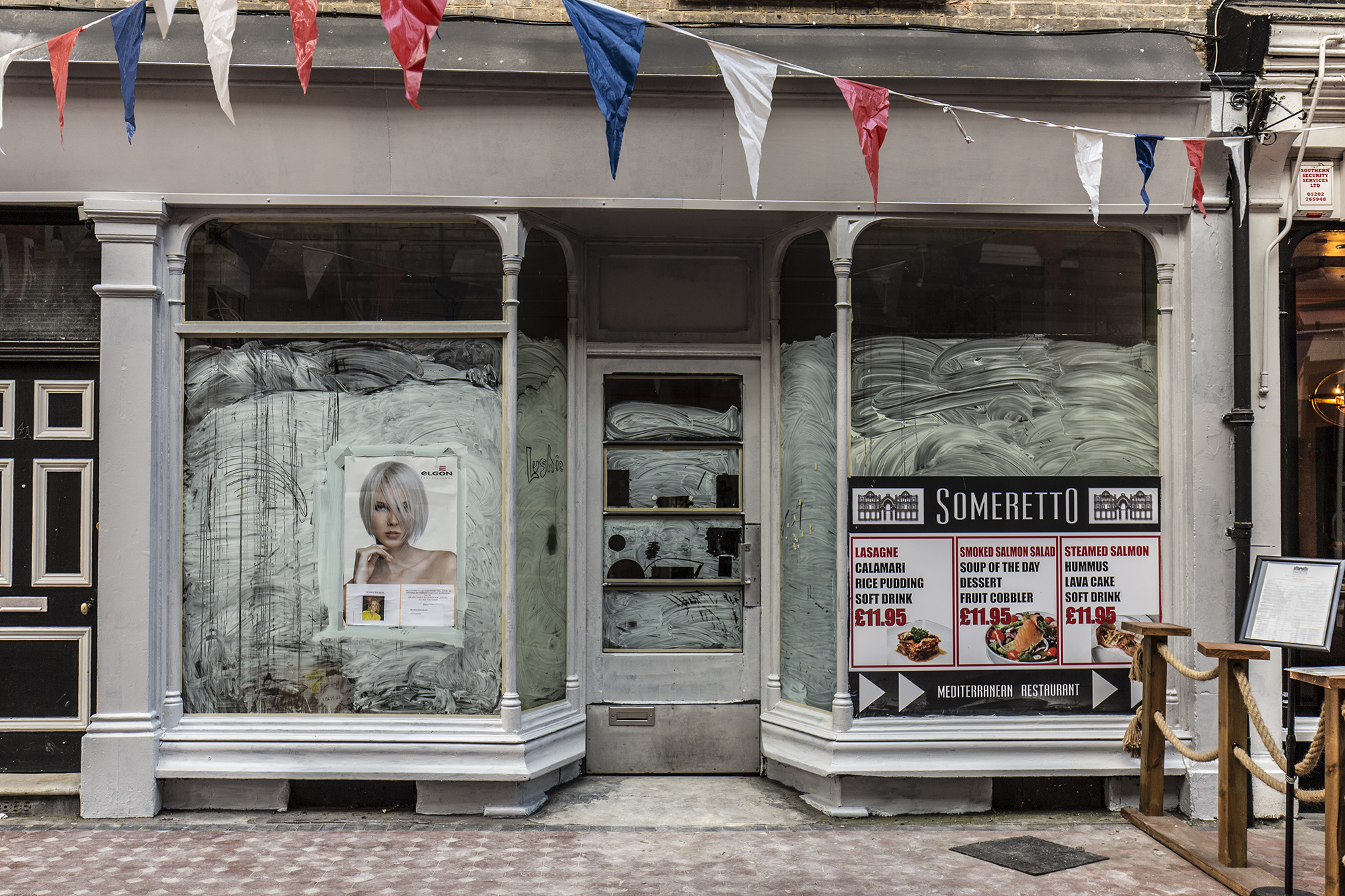 New hairdressers and barbers, Westbourne Arcade.